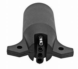 7 Way Round To 4 Pin Flat Trailer Light Adapter Plug