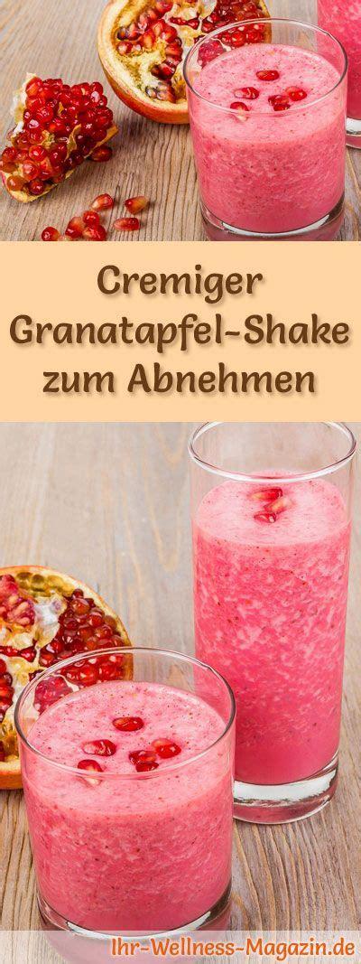 granatapfel shake smoothie abnehmshake zum selber