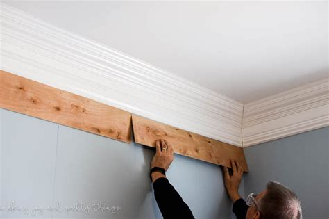 crown molding cheap how to plank a wall for 30 diy shiplap