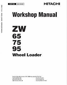 Hitachi Zw65  Zw75  Zw95 Wheel Loader Service Manual