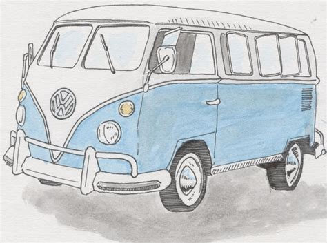 volkswagen old van drawing vw cer by steventudor on deviantart