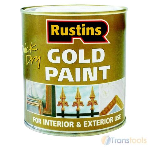 rustins quick drying gold paint wood  metal ml ebay