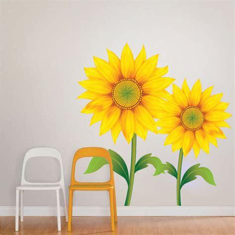 Sunflower Mural Decal Flower Wall Decal Murals Primedecals