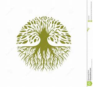 Abstract Round Tree Logo Stock Vector  Illustration Of