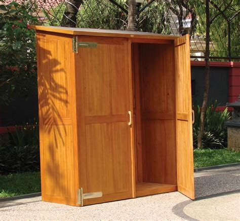 Patio Storage Cabinet by Wooden Outdoor Storage Cabinets With Doors Outside