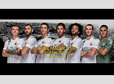 Real Madrid Jersey 20172018 Home Away and Third Kits