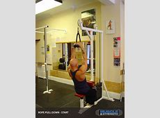 Rope Lat Pull Down Video Exercise Guide & Tips Muscle
