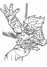 Coloring Dragon Ball Pages Printable sketch template