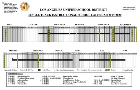 lausd calendar wonderland school