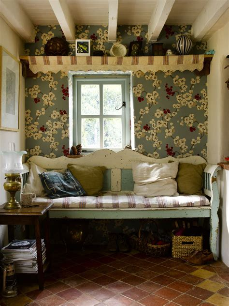 cottage style wallpaper i m a bit scared of wallpaper in small spaces but this