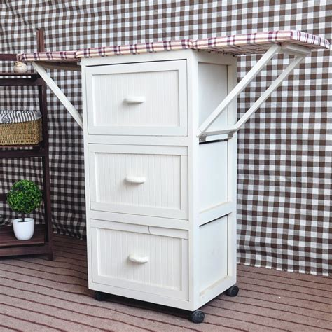 Ironing Board Cabinet With Storage by Multi Drawers Wooden Ironing Board With Cabinet Ironing