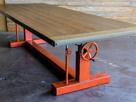 Crank Table Base   Vintage Industrial Furniture
