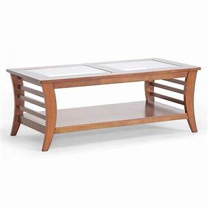 Allison coffee table honey brown in coffee tables for Glass inlay coffee table