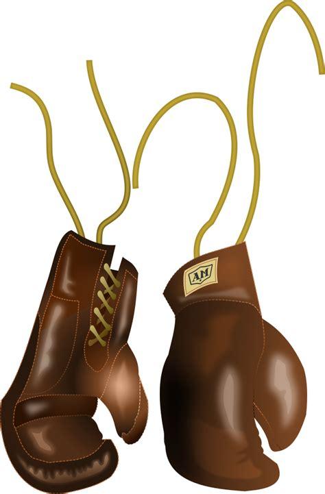 onlinelabels clip art vintage leather boxing gloves