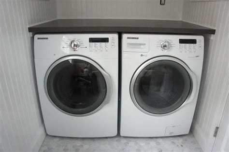 smaller counter depth front load washer and dryer in half