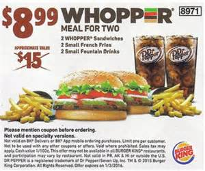 Burger King Coupons 2016