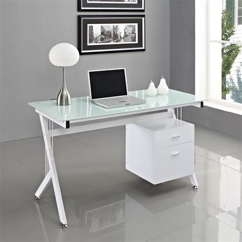 modern glass computer desk more comfortable with glass computer desk the decoras