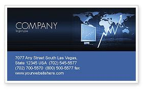 stock market jumping rate business card template layout