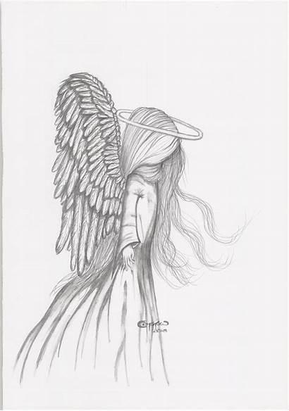 Angel Pencil Drawing Sketch Silence Drawings Wings