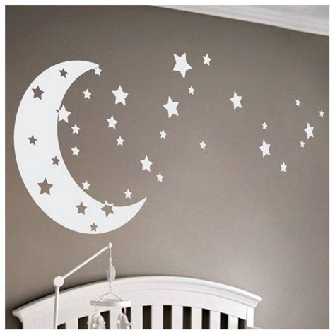 You have to think about wall colour, all the furniture your baby is likely to need and storage for all the little things that a. Moon and Stars Wall Decal | Baby room decals, Kids wall decor, Nursery accent wall