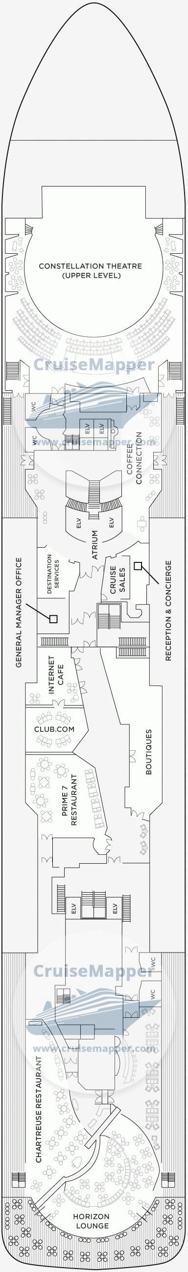 seas voyager deck  plan cruisemapper
