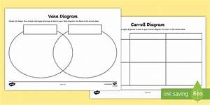 Shapes Carroll And Venn Diagram Worksheets