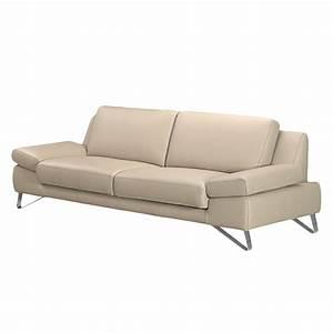 Sofa Vintage Look : sofa silvano 3 sitzer echtleder beige ohne kopfst tze loftscape kaufen m bel depot ~ Whattoseeinmadrid.com Haus und Dekorationen