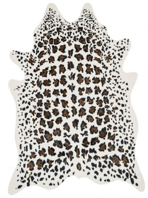 Leopard Cowhide Rug by Gray And White Leopard Rug Uniquely Modern Rugs
