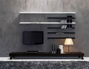 Modern wall unit lcd tv set ideas ipc
