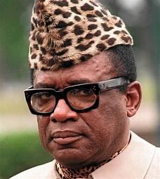 Image result for images Mobutu in Leopard Skin Hat