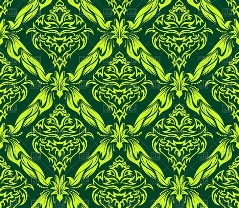 seamless antique pattern victorian style green wallpaper