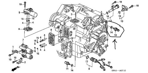 Honda Pilot Engine Diagram Transmission by Where Is The 3rd Clutch Transmission Fluid Pressure Switch