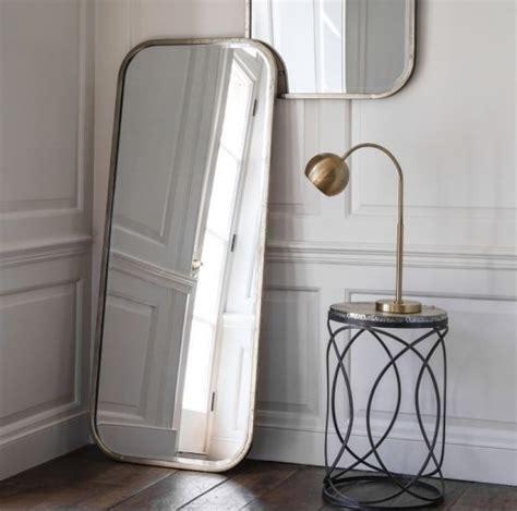floor mirror metal frame malcolm leaner rectangular floor mirror with metal frame