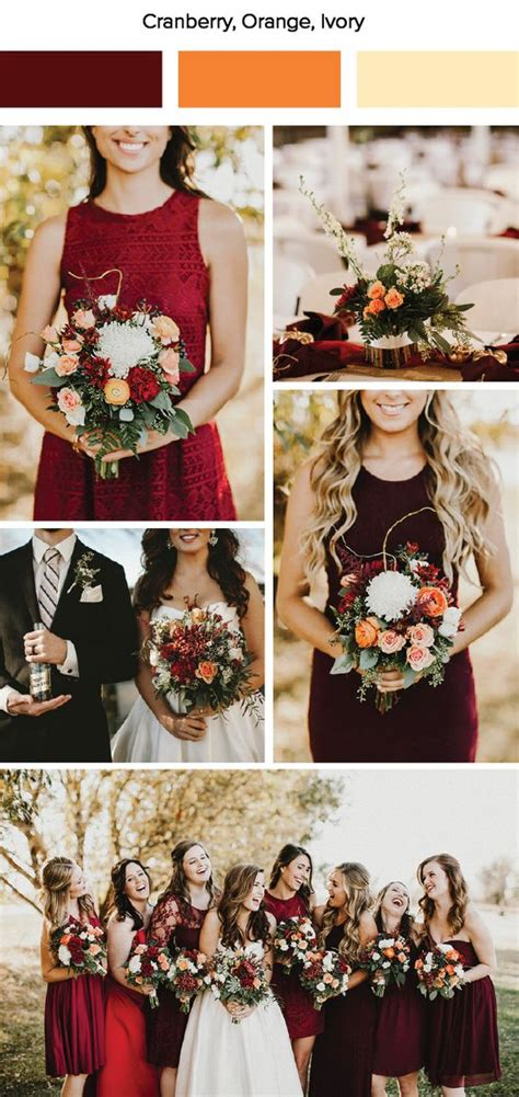 wedding color schemes for fall fall wedding color palettes that are the sheer definition