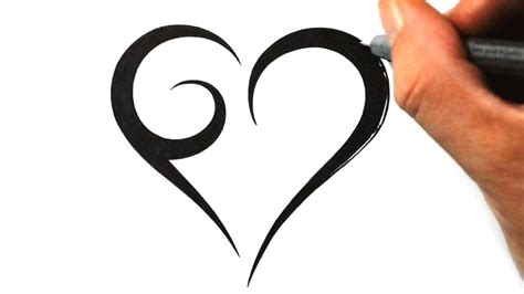 simple heart tattoo images pictures  designs