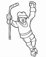 Hockey Player Coloring Score Drawing Field Netart Getdrawings Goal sketch template