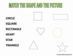 Ficha para aprender las formas geométricas en inglés SHAPES