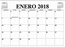 CALENDARIO ENERO 2018 2019 EL CALENDARIO ENERO 2018