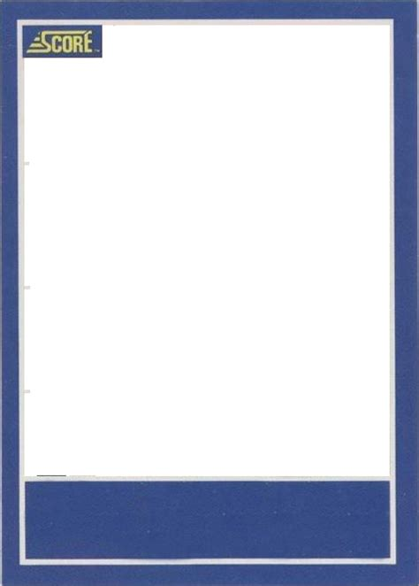 Baseball Card Template Baseball Card Template Doliquid