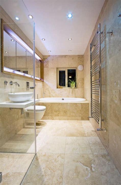 ideas  travertine bathroom  pinterest