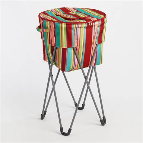 tub cooler with stand coastal stripe insulated cooler tub with stand world market