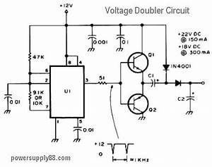 12v dc voltage doubler circuit power supply circuits With 555 dc voltage doubler circuit