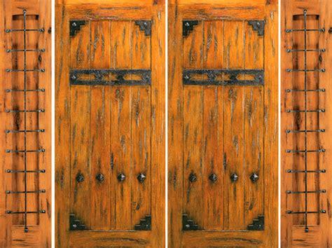 knotty alder exterior prehung double door