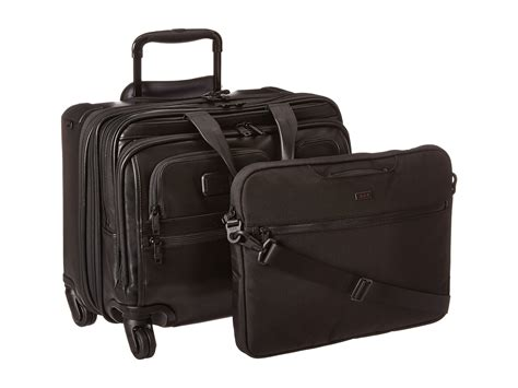 briefcase on wheels tumi alpha 2 4 wheeled deluxe leather brief with laptop