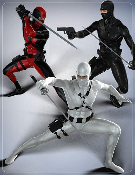 Modern Ninja Poses For Genesis 2 Male(s) And Michael 6