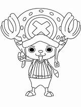 Chopper Happy Coloring Printable Pages Piece Categories Anime sketch template