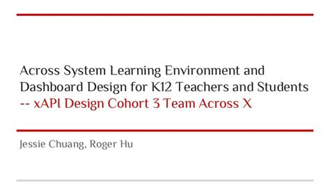 Across System Learning Environment And Dashboard Design For K12 Teach…