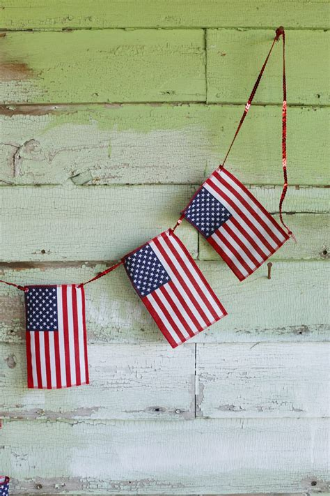 diy american flag bunting  sweetest occasion