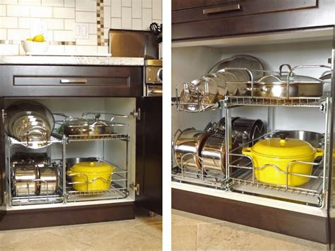 pots pans organization cabinet pull organized organize cupboard ways storage pot cabinets after manor organizing before way drawers they racks