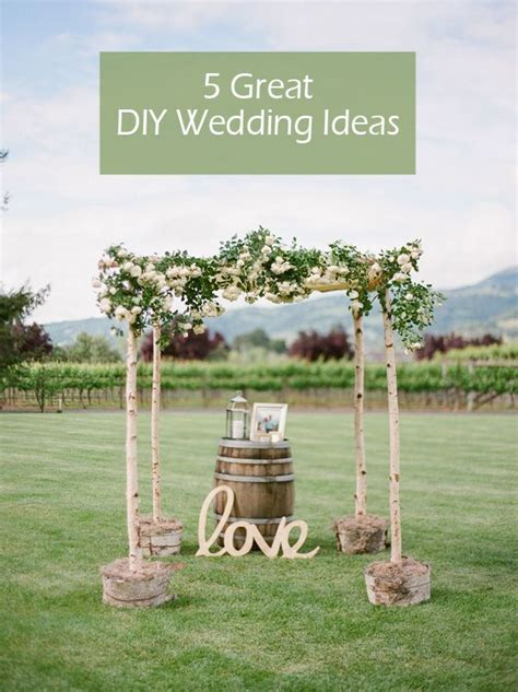 diy wedding ideas for rustic weddings best easy ideas